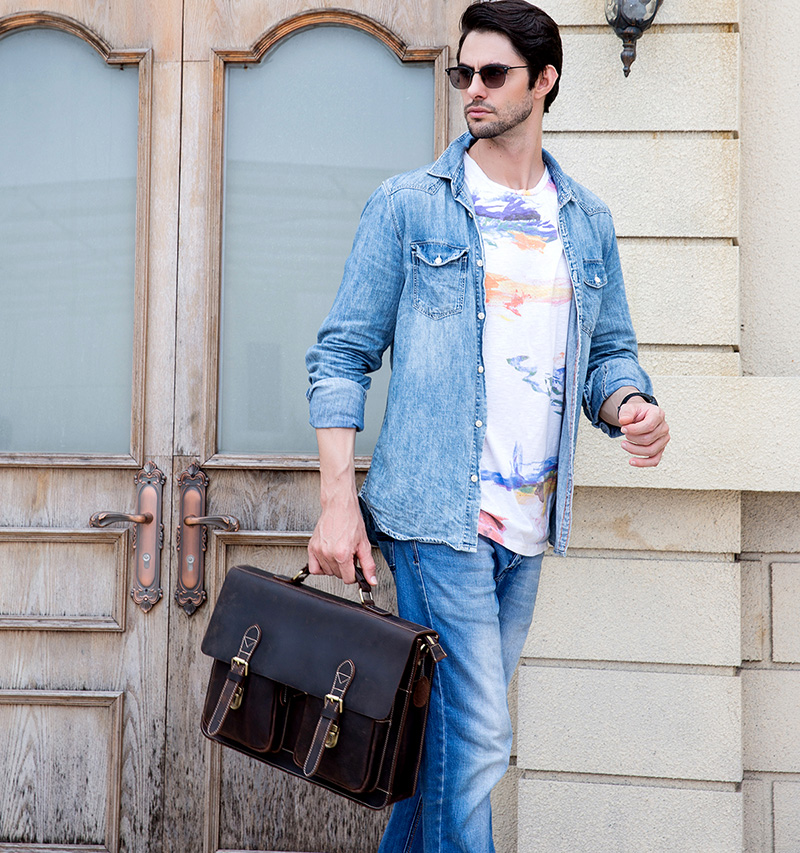 HTB1fADRX3mH3KVjSZKzq6z2OXXaL MAHEU Luxury Fashion 100% Genuine Leather Men Briefcase Cow Leather Laptop Bag Vintage Shoulder Bag Real Cowhide Computer Bag