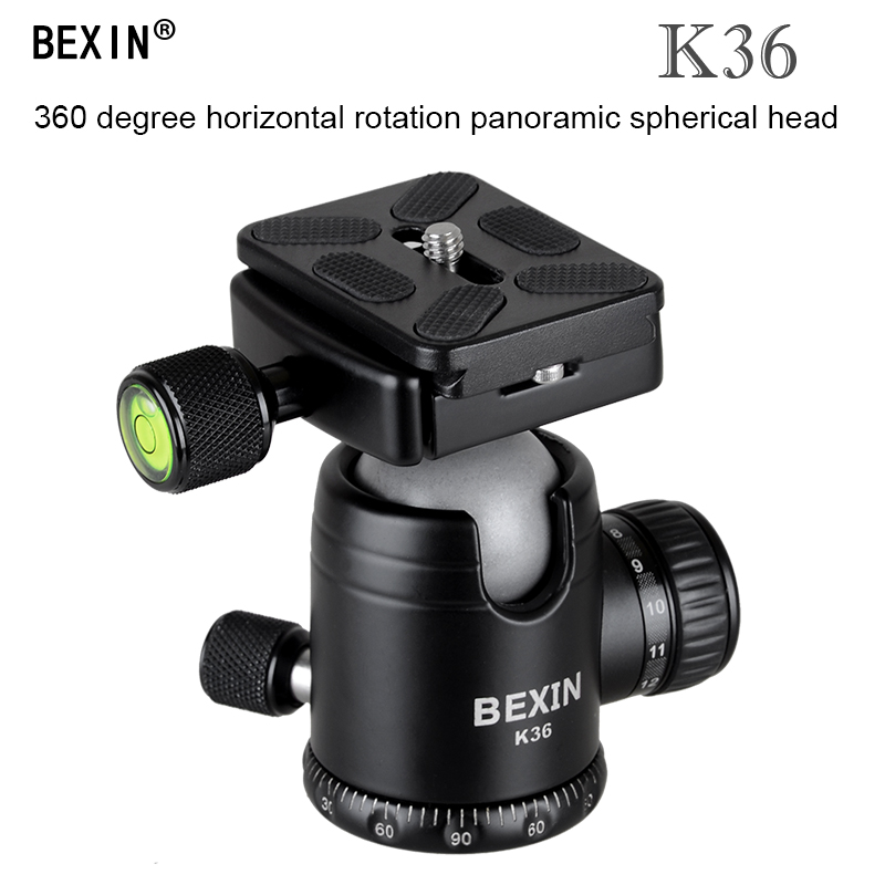 Universal 360 Horizontal Rotation Panoramic Tripod Ball Head Heavy Duty loading 20kg W/Quick Releae Plate for Canon DSLR Camera