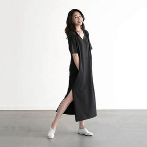 4e12a5281810d biktble Women Summer Casual Cotton Long T shirt Dress