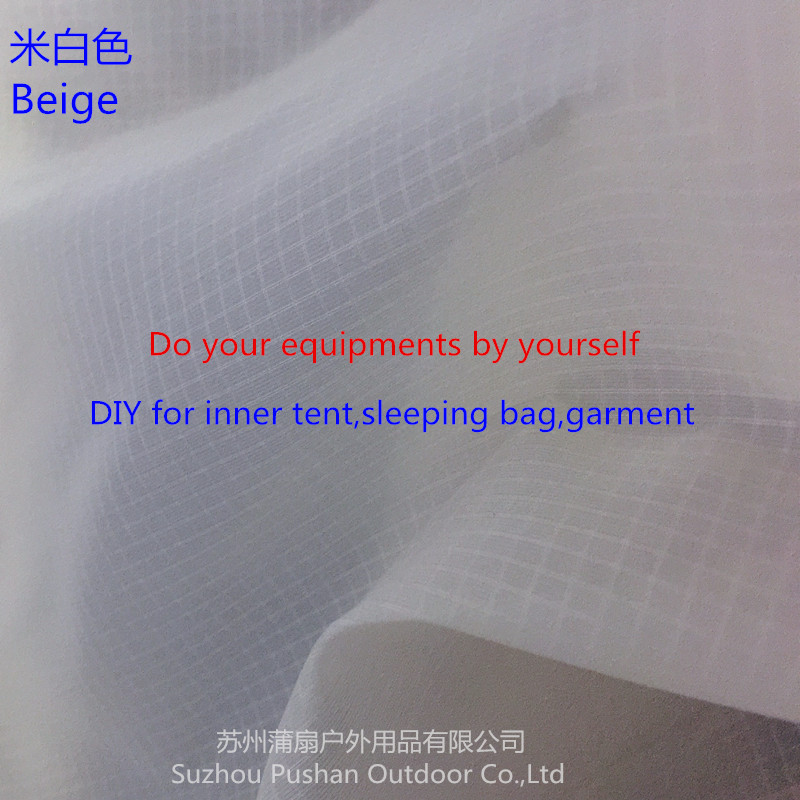 Supply DIY Light Thinner Fabric For Inner Tent 15D Nylon Fabric With Super WR,Breathable