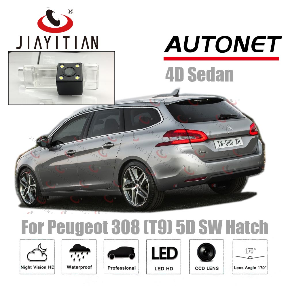 JIAYITIAN Rear View Camera For Peugeot 308 T9 2013 2014 2015 2016 2017 2018 2019 CCD Night Vision Backup Cameras Reverse Camera