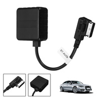 20CM Black Bluetooth AMI MMI Music Audio Interface Adapter Data Cable For Audi A6L Q7 for VW 2009 2016 Auto Accessories