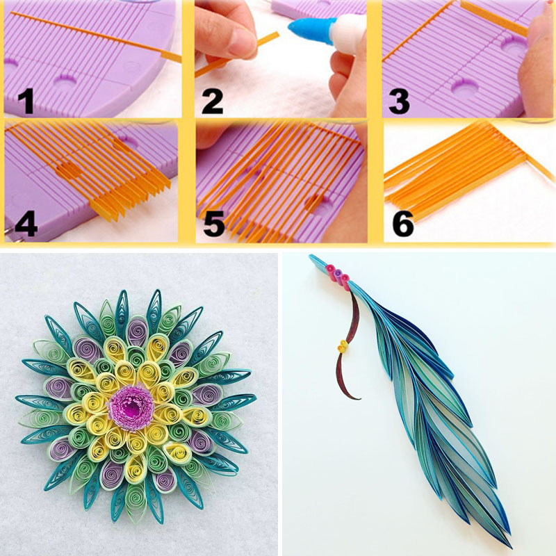 Quilling Comb Creation Loop Paper Mold Tool Accessories 15-Pin Plastic And Stainless Steel DIY Craft Paper Tools QP2