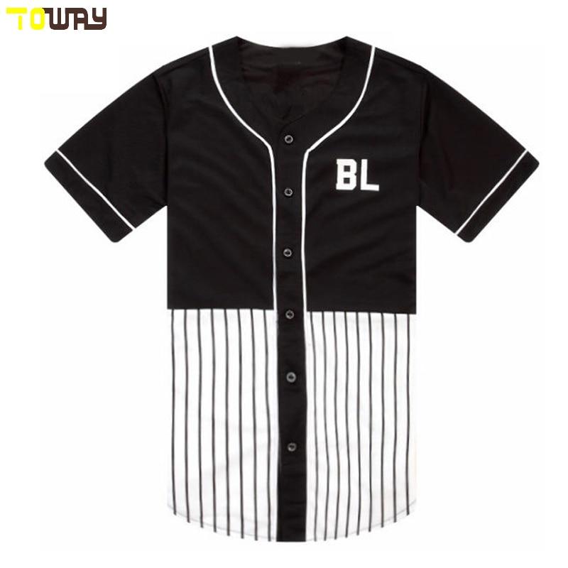 wholesale dealer 6c709 24f88 blank black pinstripe custom baseball jersey wholesale-in ...
