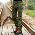 Pantalones nuevos Pantalones de Los Hombres Casuales Pantalones de Carga de Algodón Emoji joggers pantalones Verdes Del Ejército Militar Moda 2016