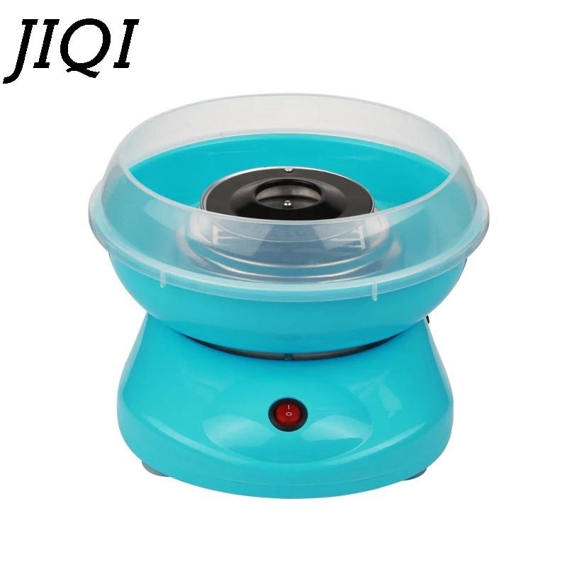 JIQI электрическая мини-машина для изготовления сладких хлопковых конфет DIY, портативная машина для изготовления сахарной ваты, феи, зефира, детские подарки, 110 В, 220 В, ЕС, США