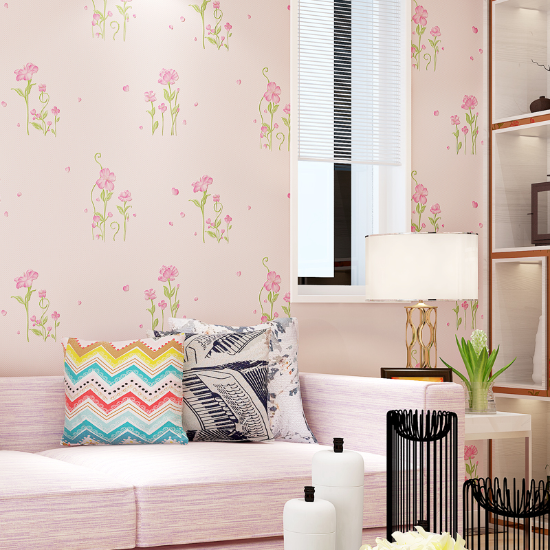 Modern Wallpapers Home Decor Wallpaper 3D Small Floral Wall Paper Roll for Bedroom Wedding Room Walls Korean Paper Contact fashion rustic wallpaper 3d non woven wallpapers pastoral floral wall paper mural design bedroom wallpaper contact home decor