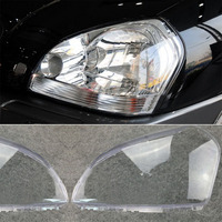1pair Car Headlight Headlamp Clear Lens Cover For HYUNDAI TUCSON 2005 2009 Left & Right Headlight Lens Replacement Accessories