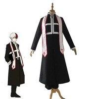 Anime My Boku no Hero Academia My Hero Academia Shoto Todoroki Cosplay Costume Halloween Carnival Priest Uniforms Custom Made