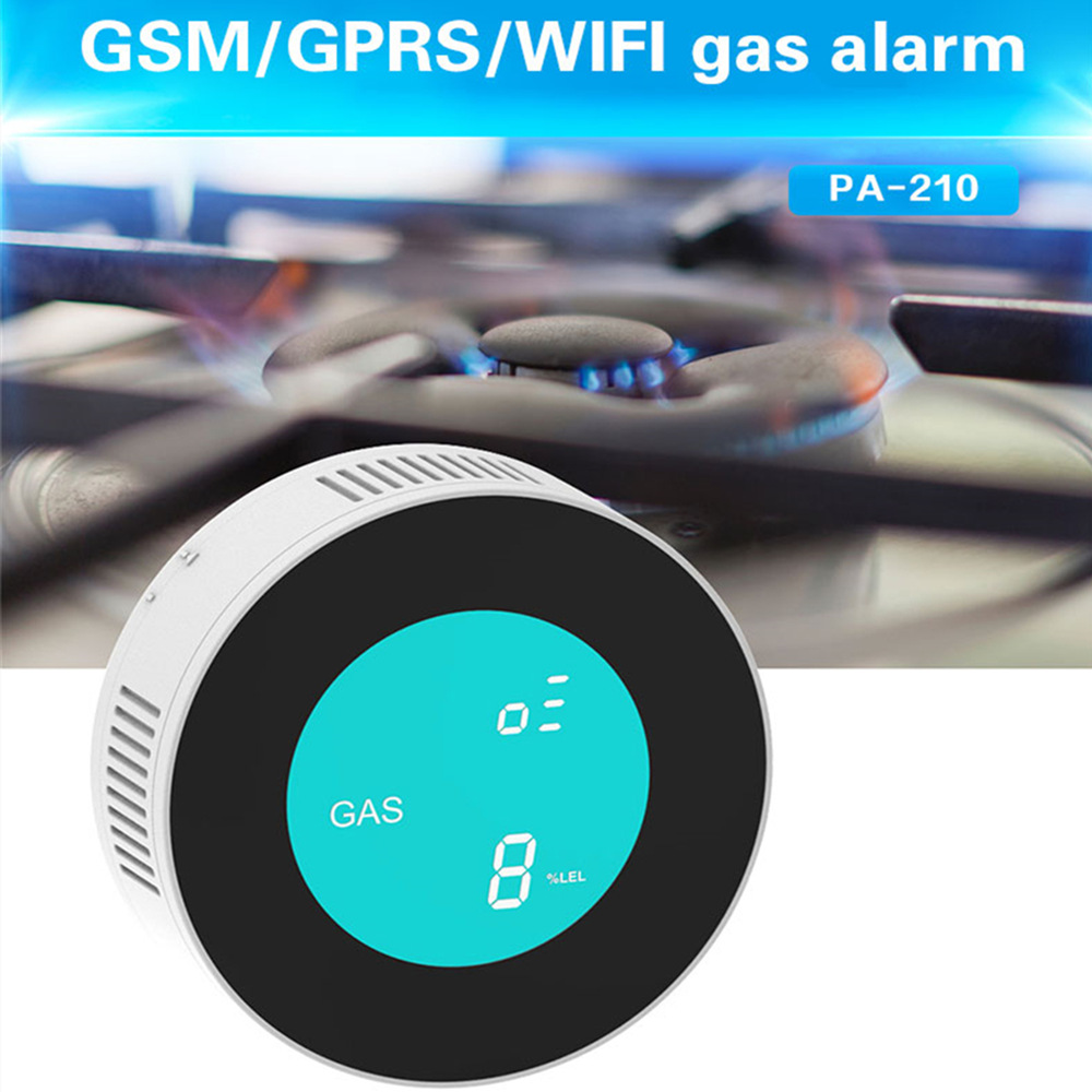 PGST New Security-Smart APP WIFI Control Combustible Gas Leak Detector LCD Display Household Smart Natural Gas Alarm Sensor