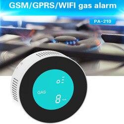 Pgst nova segurança-inteligente app wifi controle detector de vazamento de gás combustível display lcd casa inteligente sensor de alarme de gás natural