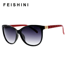 High Quality Most Fashionable UV400 Safe Cat Eye Glasses,Elegant Checked Sexy Advanced UVB Sunglasses Women Polarized Vintage