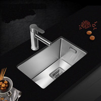 Free Shipping Standard Kitchen Mini Balcony Manual Sink Single Trough Food Grade Stainless Steel Hot Sell