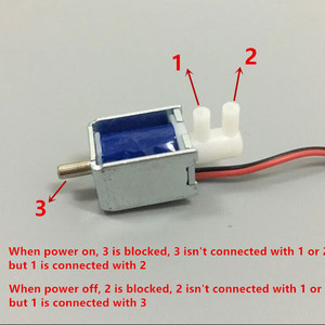 EBOWAN DC 4.5V 24V 6V 12V Mini Micro Solenoid Air Gas valve Release exhaust discouraged Valve Switch 2-position 3-way(China)