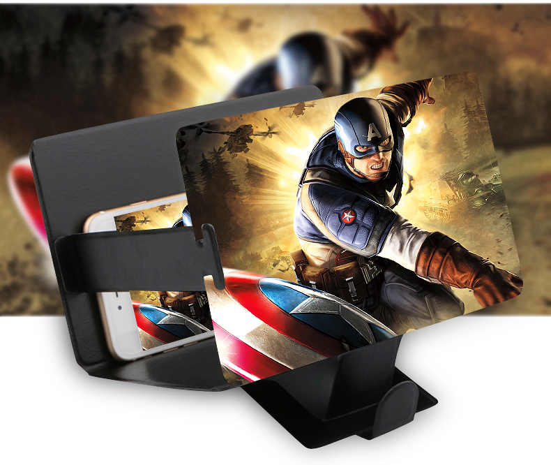 8.2&quot- Camouflage Enlarge 3 times of Mobile Phone Screen Magnifier ...