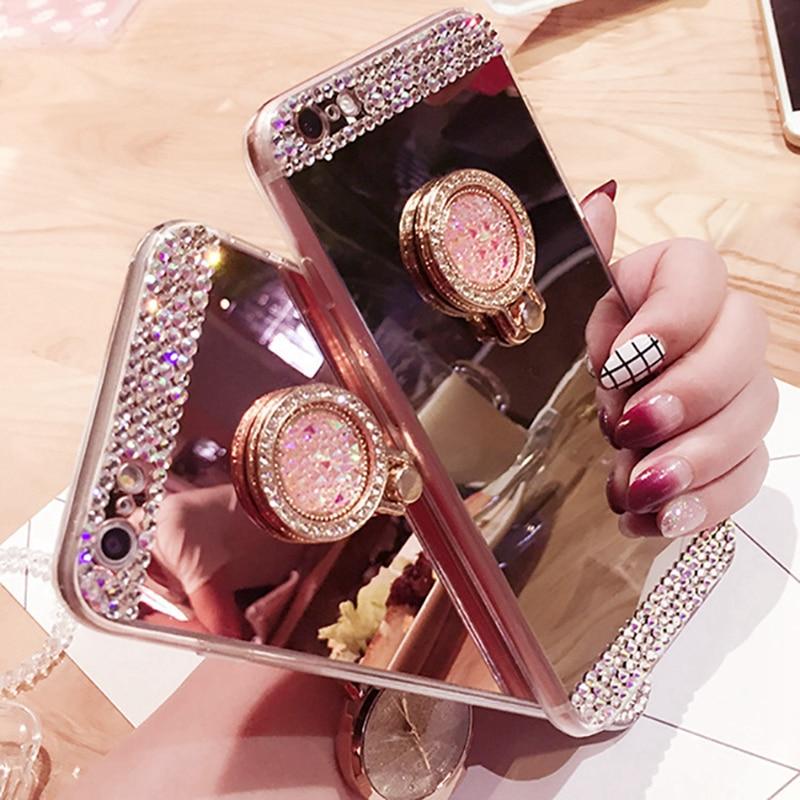 Зеркальный Мягкий силиконовый чехол из ТПУ с алмазным блеском для Huawei P10 P9 Plus P8 Lite 2017 P20 Pro Mate 20 Lite P Smart Funda case cover case for huawei p9silicone case for huawei   АлиЭкспресс
