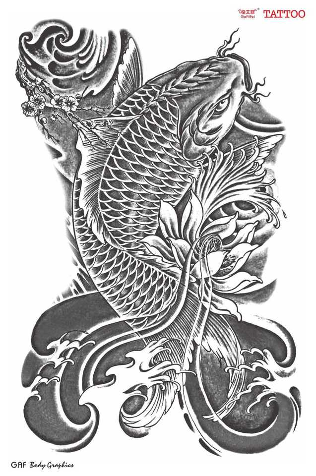 Asia Traditional Designs Temporary Tattoo Stickers