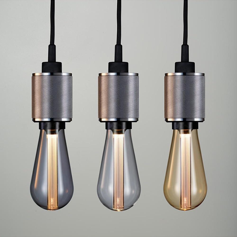 GANRILAND Edison Bulb Light Guide Vintage Simple Lamp ST64 Retro Nostalgic Personality Creative E27 85V-264V Smoke Gray LED Bulb