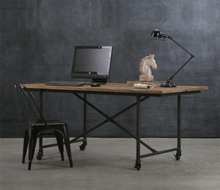 tienda online estilo americano retro muebles de madera rstica hierro forjado remaches de mesa escritorio mesa de escritorio aliexpress mvil with muebles de