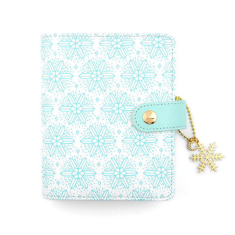 Dokibook Sweet Snowflake A5A6A7 Personal Planner Notebook Zipper Hasp Organizer Diary Monthly Weekly Agenda Gifts Stationery never sweet pink diary a6 spiral notebook agenda 2018 personal weekly planner chancellory school supplies korean gift stationery
