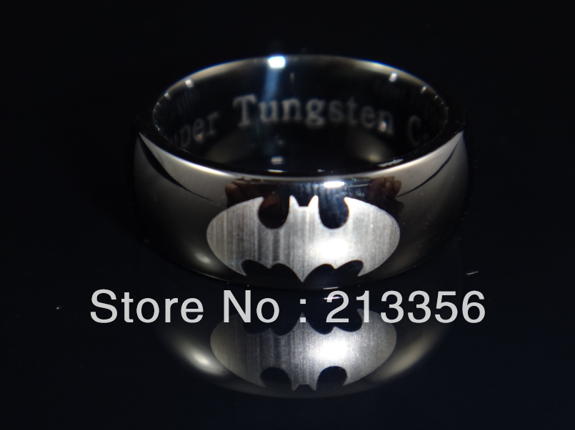 His and hers batman wedding bands Fashion wedding shop