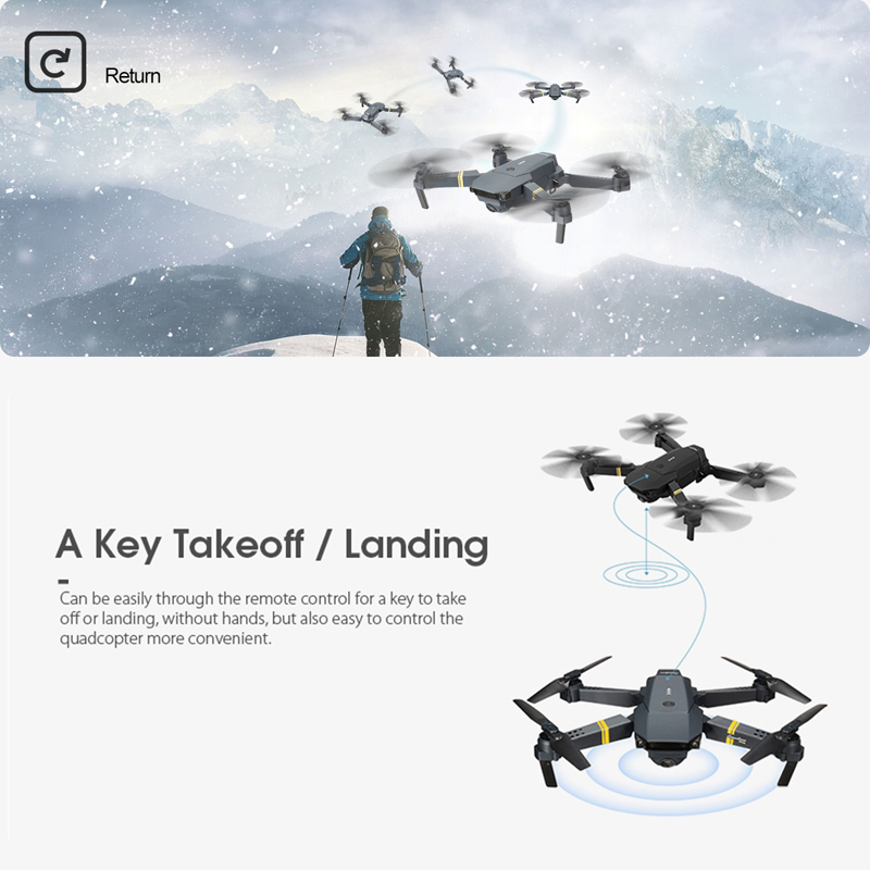Eachine E58 WIFI FPV With Wide Angle HD Camera High Hold Mode Foldable Arm RC Quadcopter Drone RTF  XS809HW H37 4