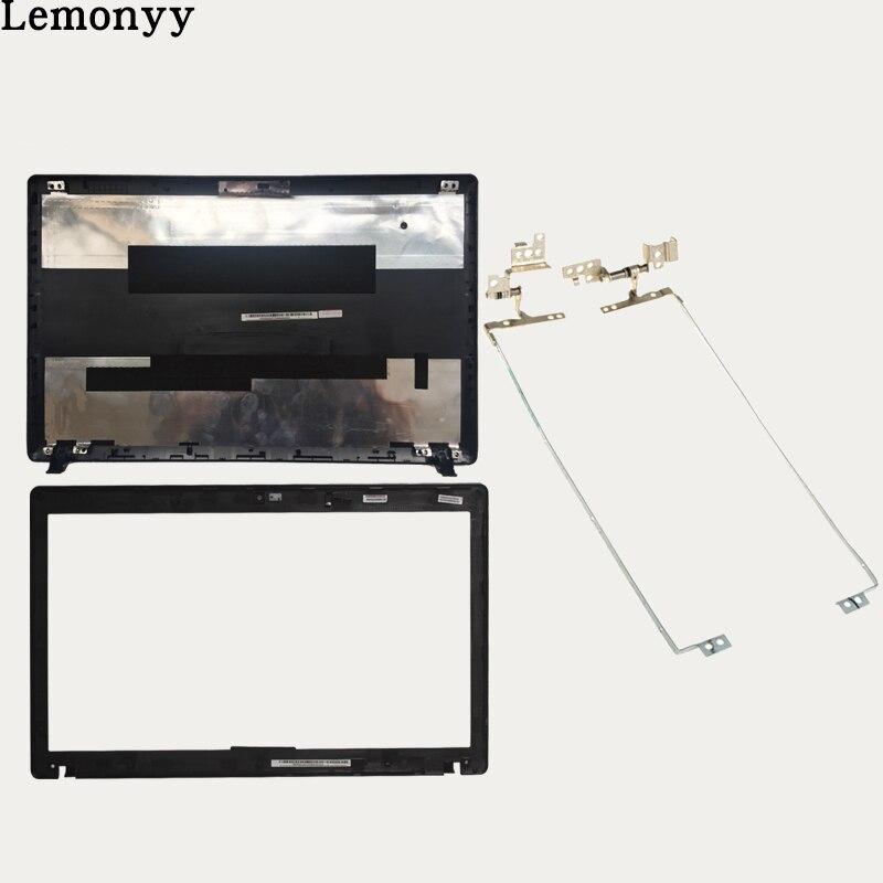 Nuevo para Lenovo G580 G585 cubierta superior LCD cubierta trasera AP0N2000410/cubierta de bisel LCD AP0R4000100/bisagras LCD izquierda y derecha