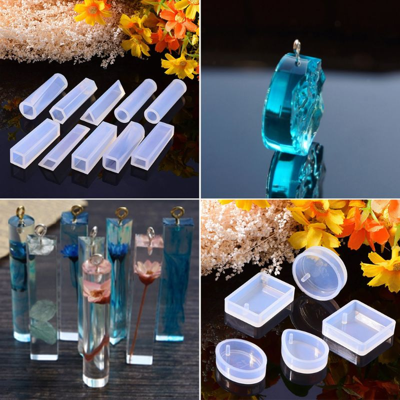 1 Set Silicone Mold Kit Epoxy Resin DIY Jewelry Making Cake Decoration Crafts  Jewelry Molds Clasp Pins Tools For Fondant Craft