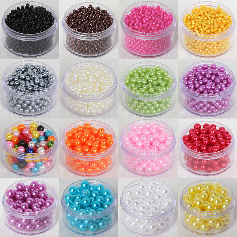 Hot Fashion 4mm 6mm 8mm 10mm Round Imitation Pearl Beads Random Mix Colors Pearl Beads for jewelry Making