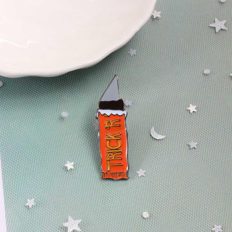 Модная металлическая икона пуговичная брошь эмалированный значок-булавка ножи кинжалы джинсы рубашка шпильки ювелирные изделия унисекс персонализированные аксессуары