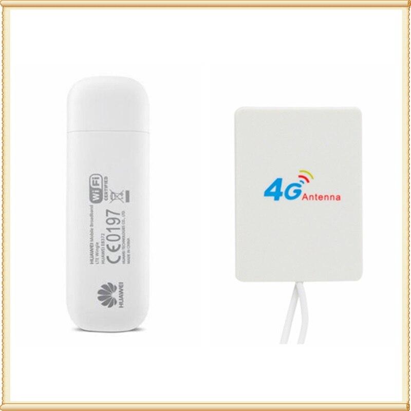 E8372 150 Mbps LTE Wifi Modem E8372h-153 4 Gusb dongle + 4G Signal amplificateur antenne 2 M câble double TS9 connecteur
