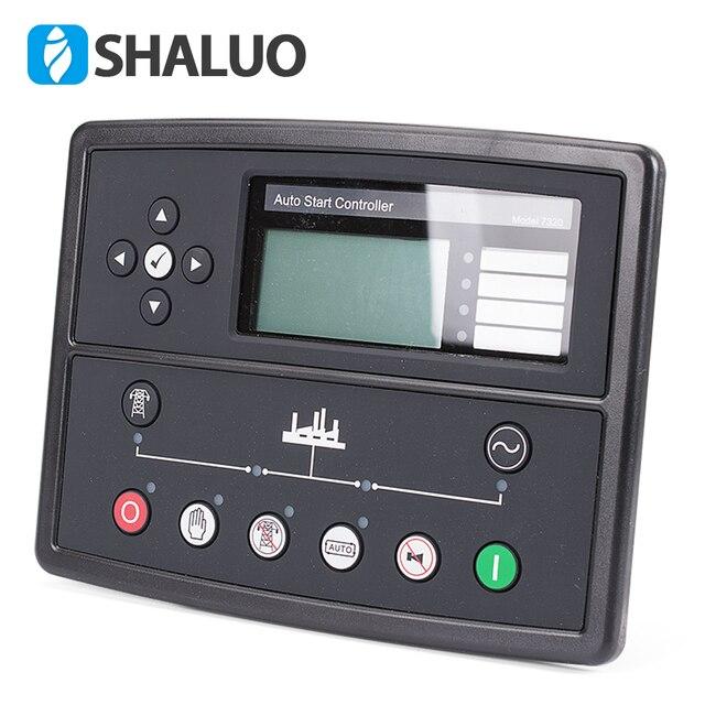 Светодиодный контроллер генератора 7320, запчасти генератора, панель управления генератором переменного тока, ЖК дисплей, автоматический старт, дистанционный электронный контроллер
