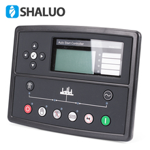 Controlador de generador led, piezas de genset, placa de control de alternador, panel de pantalla lcd, mando a distancia de arranque automático