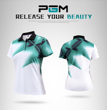 PGM 2017 new golf Sportswear summer lady breathable T-shirt women's short-sleeved elastic Golf polo Shirts 4colors