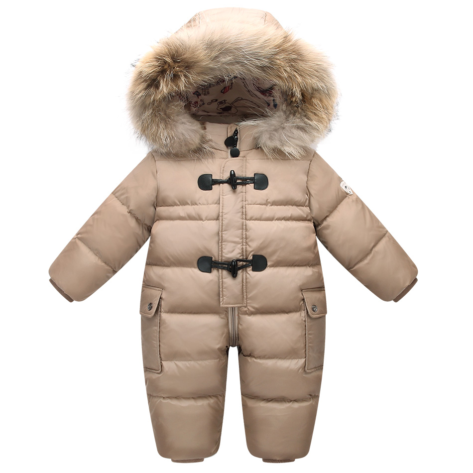 Orangemom official store winter jacket for girls coats & outwear  , 90% duck down infant baby snowsuit , warm baby snow wear