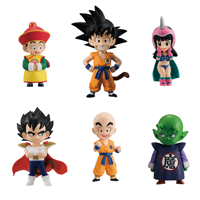 Dragon Ball Z Super Adverge EX 01 Mini Figure - Goku Gohan Vegeta Piccolo ChiChi Krillin - Full set 100% Original цена и фото