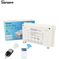 ITEAD Sonoff 4CH Pro Smart Home RF Wifi Light Switch 4 Gang Working Modes Inching Interlock