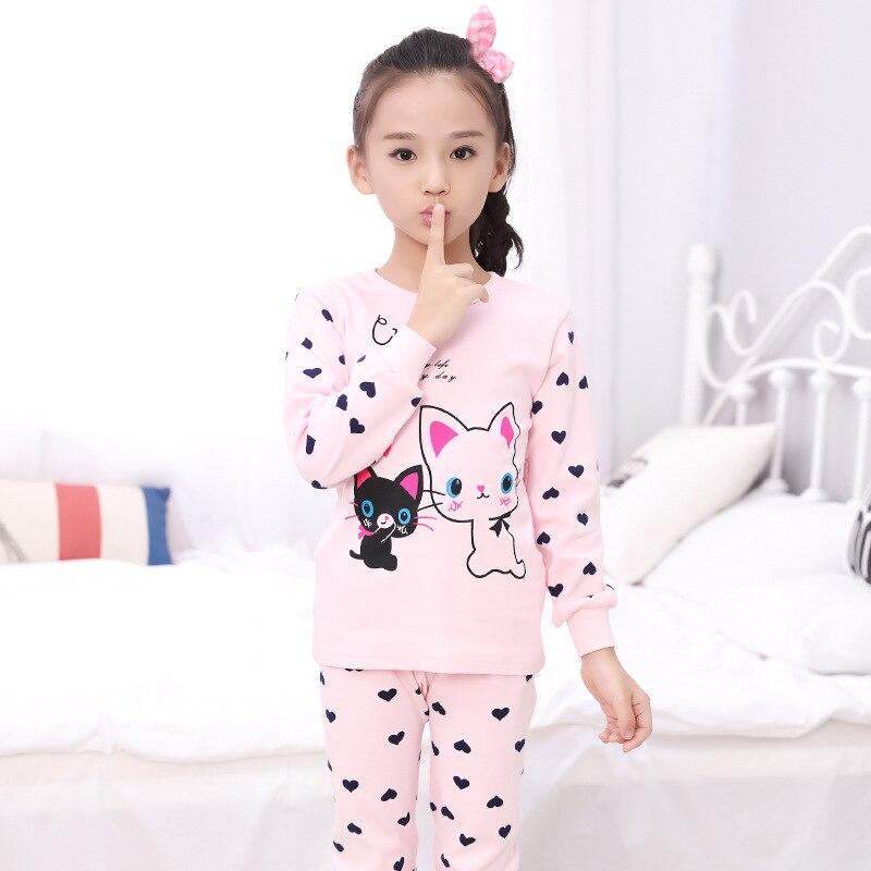 9c895b6853 Pajamas Kids Pyjamas Boys Children s Sleepwear 6 Kinds Of Colors Combed  Cotton Cute Cartoon Free Shipping Girls Pajamas
