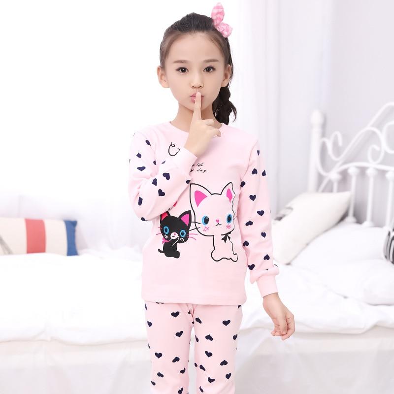 Pajamas Kids Pyjamas Boys Childrens Sleepwear 6 Kinds Of Colors Combed Cotton Cute Cartoon Free Shipping Girls Pajamas