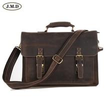 JMD Wholesale Price 5Pcs/Lot Crazy Horse Leather Brown Men Messenger Bag shoulder bags Handbags 7205R