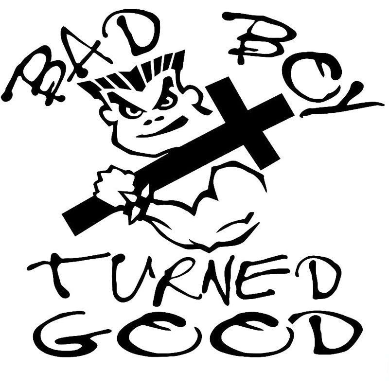 Car Stickers Ambitious 20x18cm Bad Boy Turned Good Interesting Vinyl Decal Black/silver Car Sticker S8-0786 Reasonable Price Automobiles & Motorcycles
