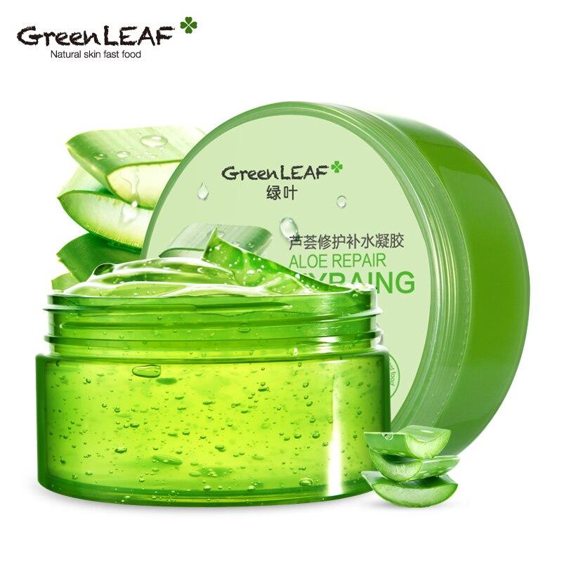 Green Leaf Aloe Gel font b Skin b font font b Care b font Sun Repair