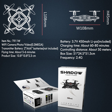 Gteng T911W MINI FPV drone with camera HD rc helicopter dron quadcopter remote control toys quadrocopter copter multicopter