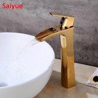 China Wenzhou Fabricante Torneira Luxo Banhado A Ouro de Design Industrial Sanitária Bacia água da torneira de casa melhoria Alta misturador tipo