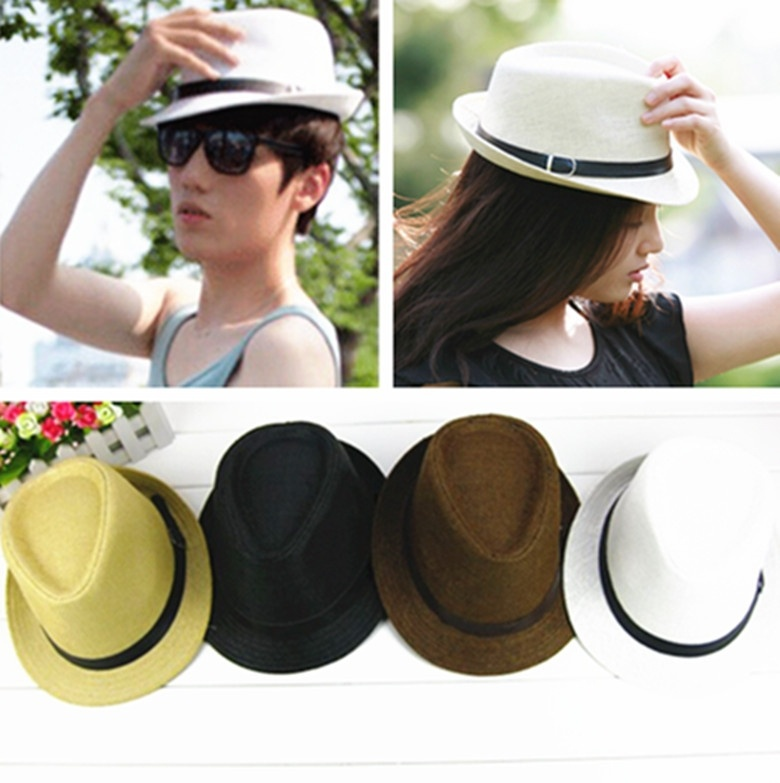 Elegante Sombrero de Verano Sombrero de Paja Salacot Del Casquillo Del  Sombrero de Fedora del sombrero flexible Panamá Jazz Sombrero en Sombreros  de sol de ... 9adcb21e035