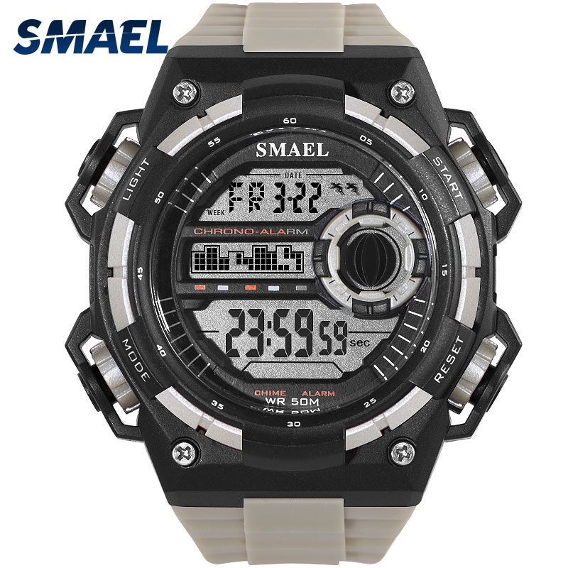 SMAEL Digital Wristwatches Mens S Shock Resist Military Men Watch Waterproof LED Clock 2018 New Style Sport Watches uhren herren smael 1708b