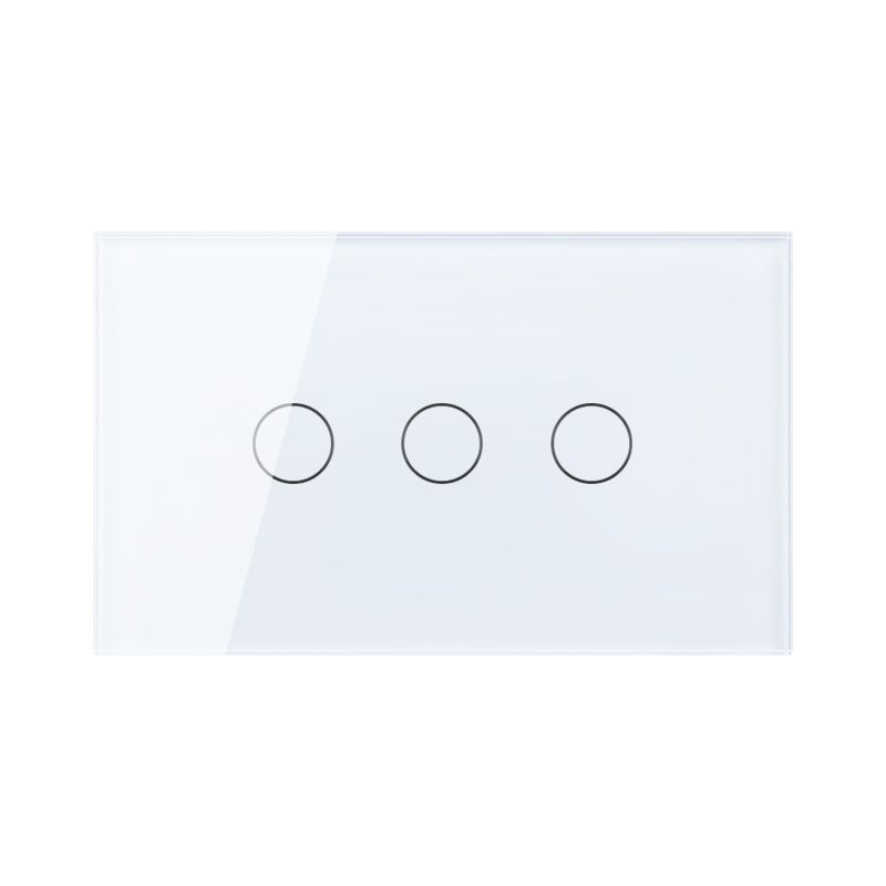 Free Shipping, US AU Standard Touch Switch, 3 Gang 1 Way Control, Crystal Glass Panel,Wall Light Switch,KT003US 2016 hot sale touch switch crystal glass panel us au light switch 2 gang 1 way wall switch smart home touch switch