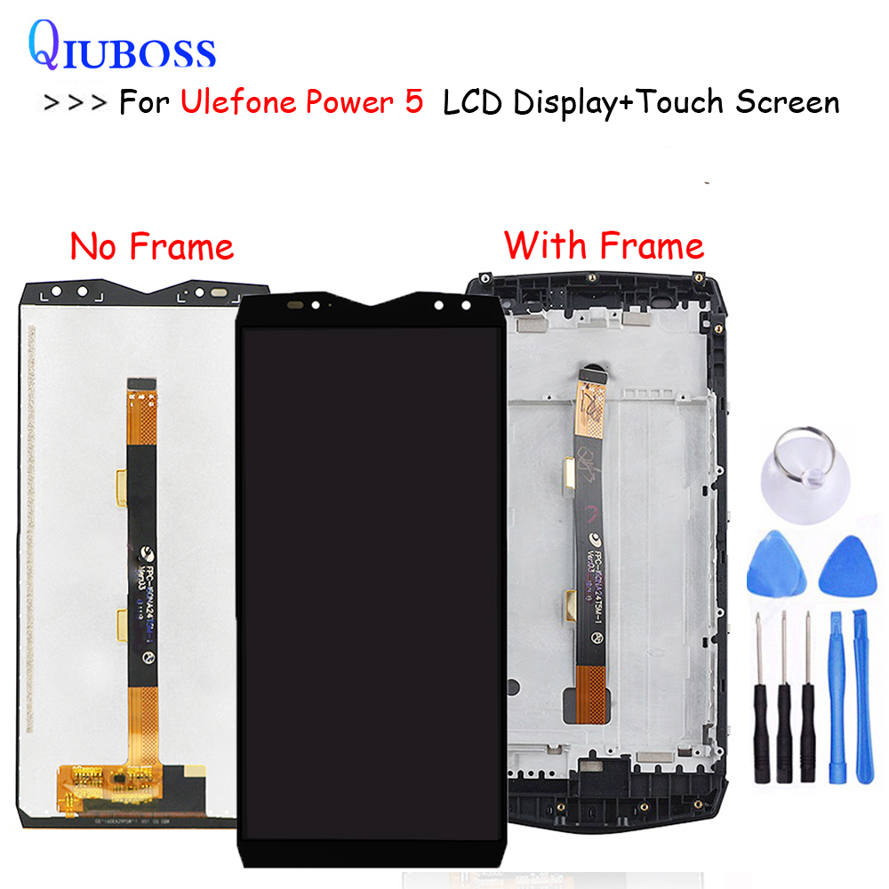 For <font><b>Ulefone</b></font> <font><b>Power</b></font> <font><b>5</b></font> LCD Display And Touch <font><b>Screen</b></font> With Frame Perfect Repair Parts For <font><b>Ulefone</b></font> <font><b>Power</b></font> <font><b>5</b></font> Digital Accessory image