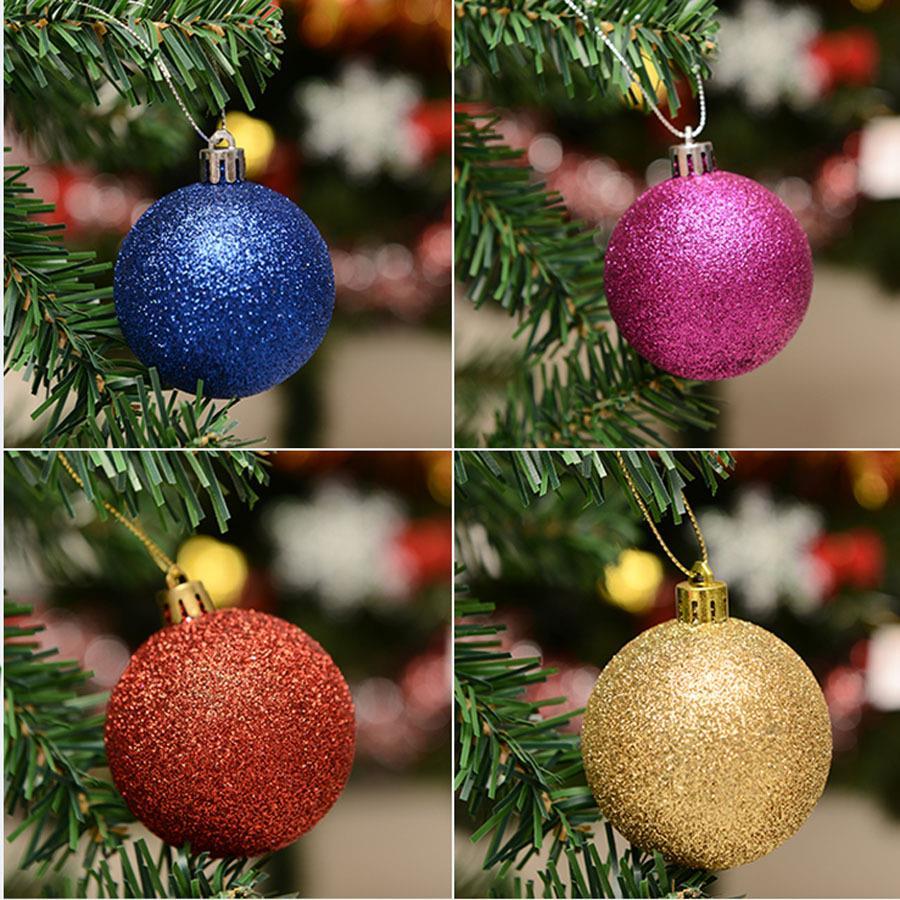 46a94dcf5e8 Luz Mate Glitter bolas de Navidad navidad 4 cm 6 cm 8 cm Grande Del Árbol  De Navidad Del Banquete de Boda de Bolas de Poliestireno ornamento en  Navidad de ...