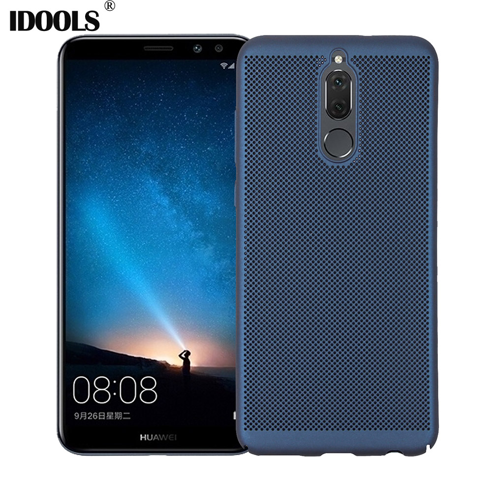IDOOLS Case for Huawei Mate 10 Lite Cover Soft TPU Dirt Resistant Carbon Fiber Phone Bag ...